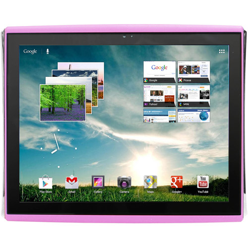 """LePan 9.7"""" Capacitive Touchscreen Tablet Featuring Google Mobile Services and Android 4.0 with 4GB Memory & 4GB card, Pink"""