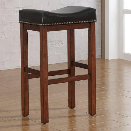 Fantastic American Woodcrafters Jackson Saddle Seat Counter Stool Medium Walnut Inzonedesignstudio Interior Chair Design Inzonedesignstudiocom