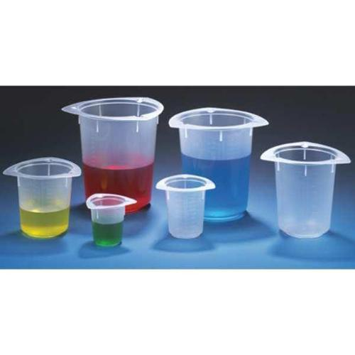 GLOBE SCIENTIFIC Beaker,Polypropylene,50mL,PK100, 3640