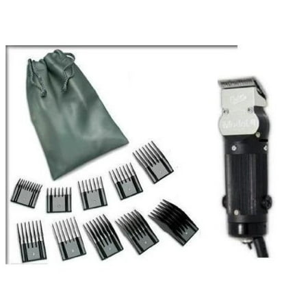 Oster Model 10 Classic Professional Barber Salon Pro Hair Grooming Clipper with 10 piece Comb Guide Set. (Oster Model 10 Clipper)