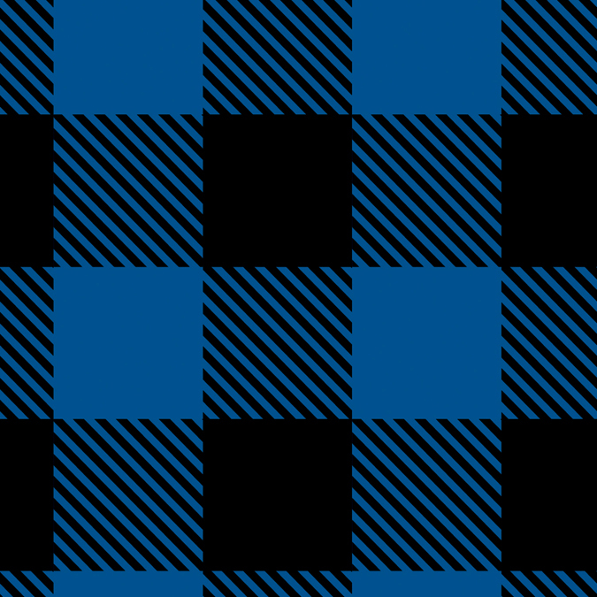 "Plaid Fleece-Camelot Design Studio 60"" 100% Polyester D/R-Black/Royal Buffalo"