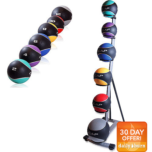 CAP Barbell Medicine Rack w/ Ball Set