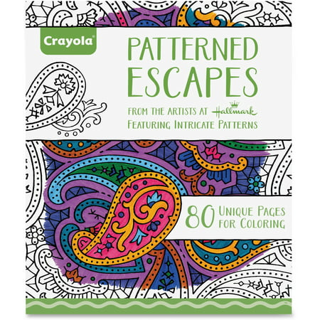 Crayola Patterned Escapes Adult Coloring Book With 80 Designs