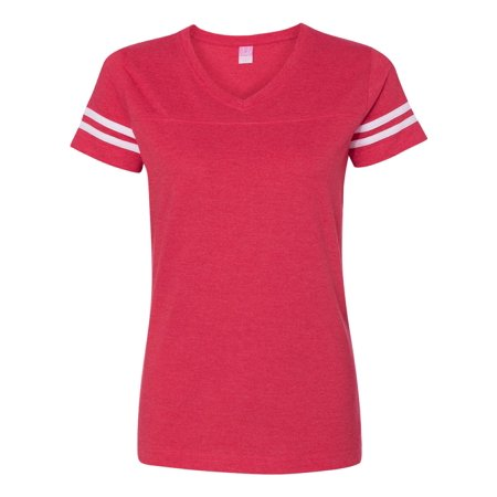 LAT Women's Football V-Neck T-Shirt