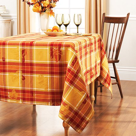 Better Homes And Gardens Tablecloth Yellow Plaid
