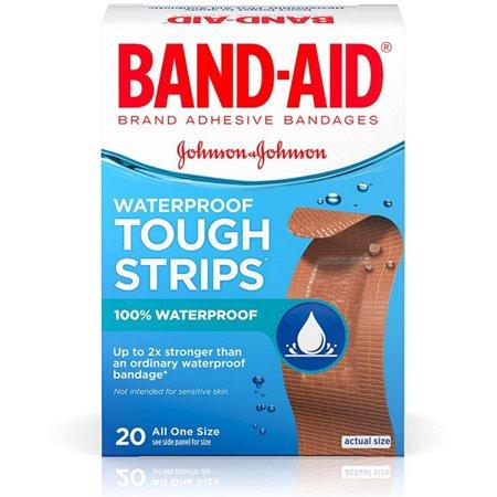 Band Aid Tough Strips (BAND-AID Waterproof Tough-Strips Bandages 20 ea )