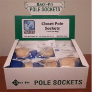 Pine Closet Pole Sockets 2 Pieces w/ Screws Cindoco Wood Plugs XF12-138