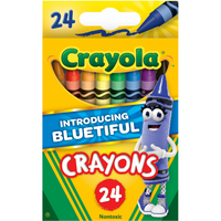 (3 Pack) Crayola Classic Crayons featuring Bluetiful, 24 Count