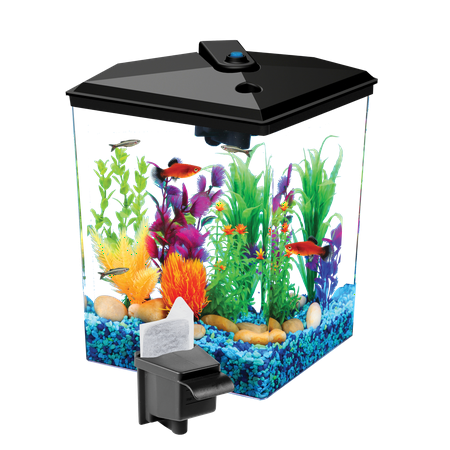 Aqua Culture 1-Gallon Aquarium with LED Lighting and Internal Power Filter