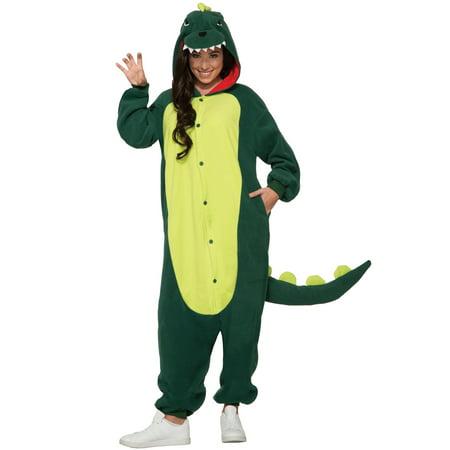 Dinosaur Jumpsuit Adult Costume (Adult Dino Costume)