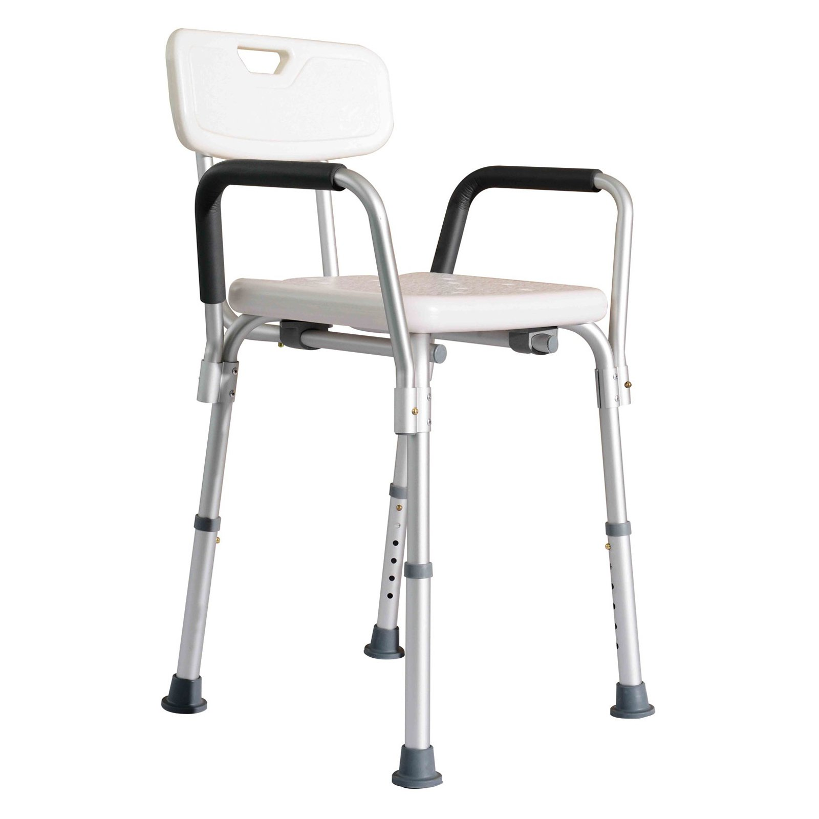 Homcom Adjustable Medical Shower Chair Walmart Com