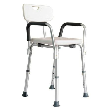 (HomCom Adjustable Medical Shower Chair)