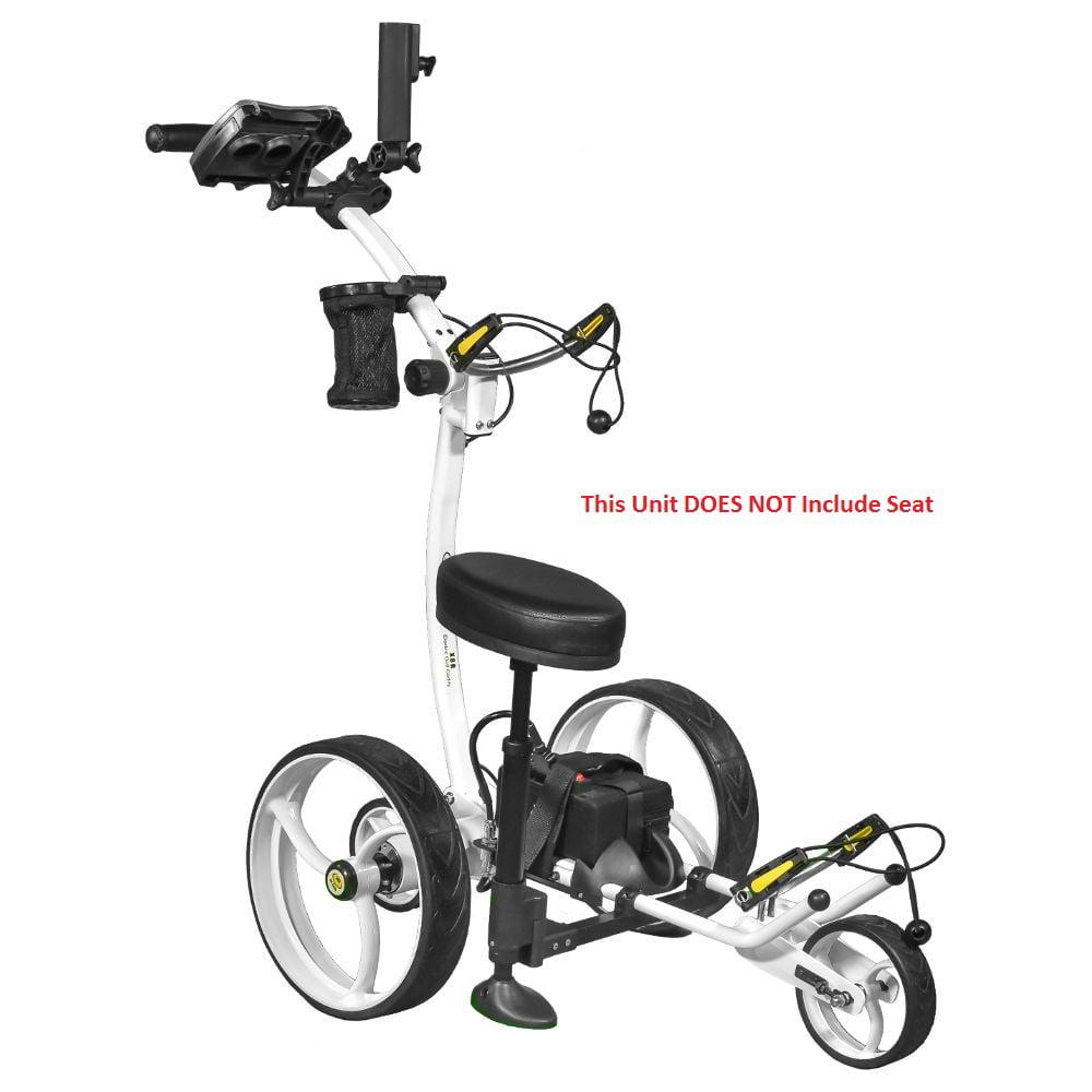 Bat Caddy X8 Pro Manual Electric Golf Bag Cart White w/ 1...