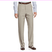 Sean John Tan Patterned Classic Fit Dress Pants, Taupe, Size 42X30, MSRP $120