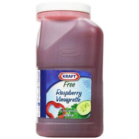 4 PACKS : Brand Dressing Fat-Free Liquid, Raspberry Vinaigrette, 128