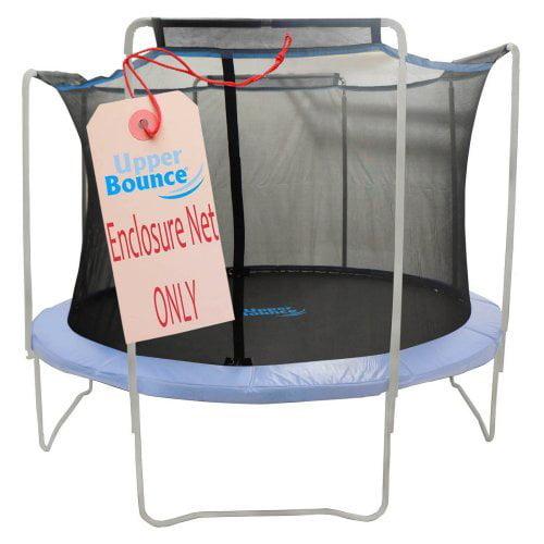 Juguetes Exterior Para Niños Trampolín recambio caja red de seguridad, se ajusta de 15 pies redondo Marcos, con 4 arcos, con mangas en superior -red sólo + Upper en Veo y Compro