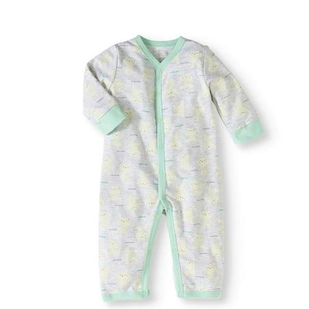 19e4d4b5b4f1 Newborn Boy Footless Coverall One Piece Romper - Walmart.com