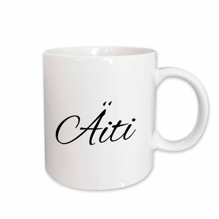3dRose Aiti - word for Mom in Finnish - Mother in different languages Finland - Ceramic Mug, 15-ounce
