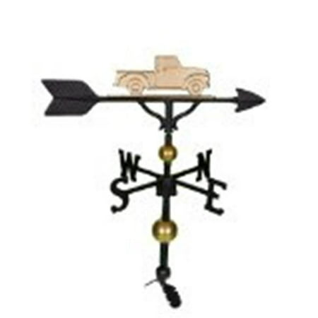 Montague Metal Products WV-316-GB 300 Series 32 In. Deluxe Gold Classic Truck Weathervane