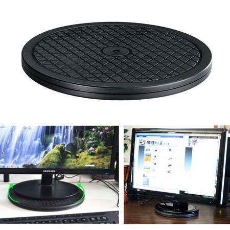 Small Tv Turntable (Heavy Duty Rotating Turntable Display Stand 65lbs Capacity TV Monitor 360 Swivel )