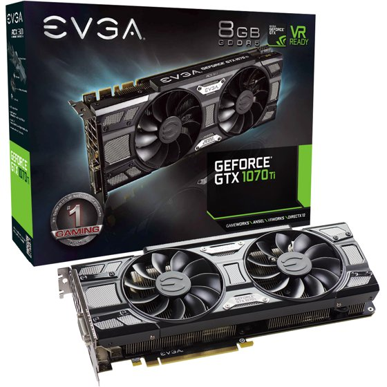 EVGA GeForce GTX 1070 Ti SC 8GB GDDR5 Graphics Card - 08G-P4-5671-KR