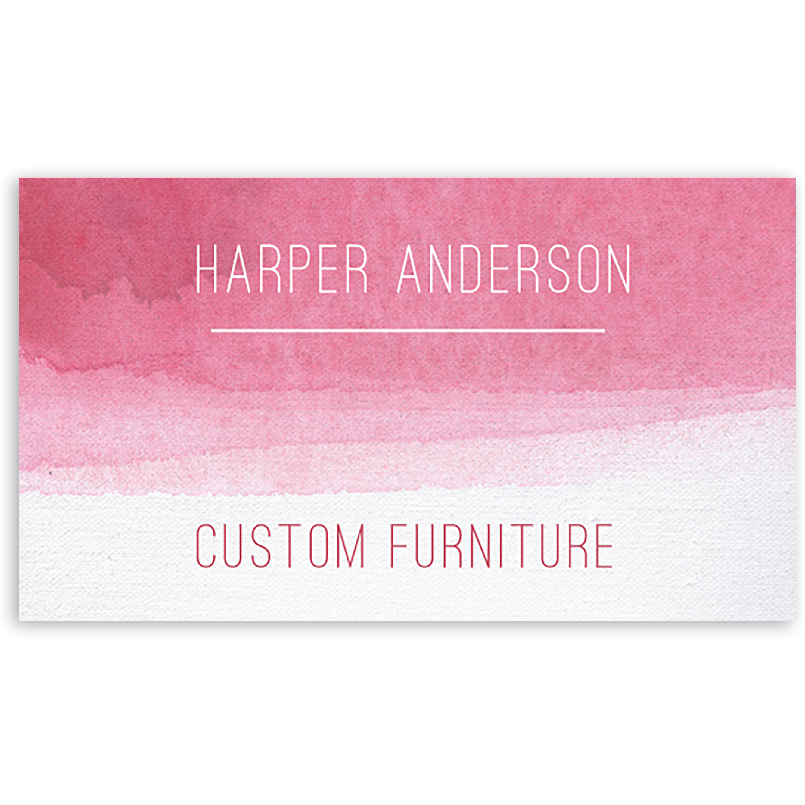 Aqua Tones - Personalized 3.5 x 2 Business Card
