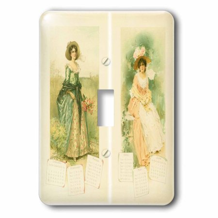 3dRose Victorian Calendar Ladies Single Toggle Switch lsp 62093 1