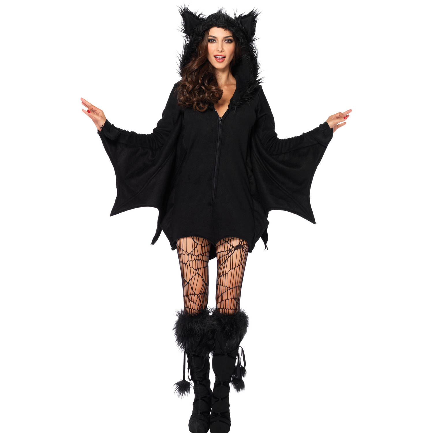 Leg Avenue Women's Cozy Bat Costume, Black, Small