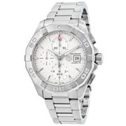 Tag Heuer Aquaracer Chronograph Silver Dial Stainless Steel Mens Watch CAY2111.BA0925