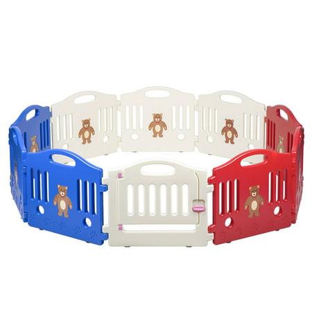 10 Panel Safety Play Center Yard Baby Playpen Kids Home Indoor Outdoor Pen ()