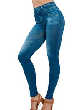 EFINNY Women's Slim High Waist Pencil Leggings Jeans