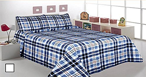 Click here to buy 3 Piece Coverlet Quilt Printed Bedspread Sets, Full  Queen Size, Striped Navy Blue Jn-5.