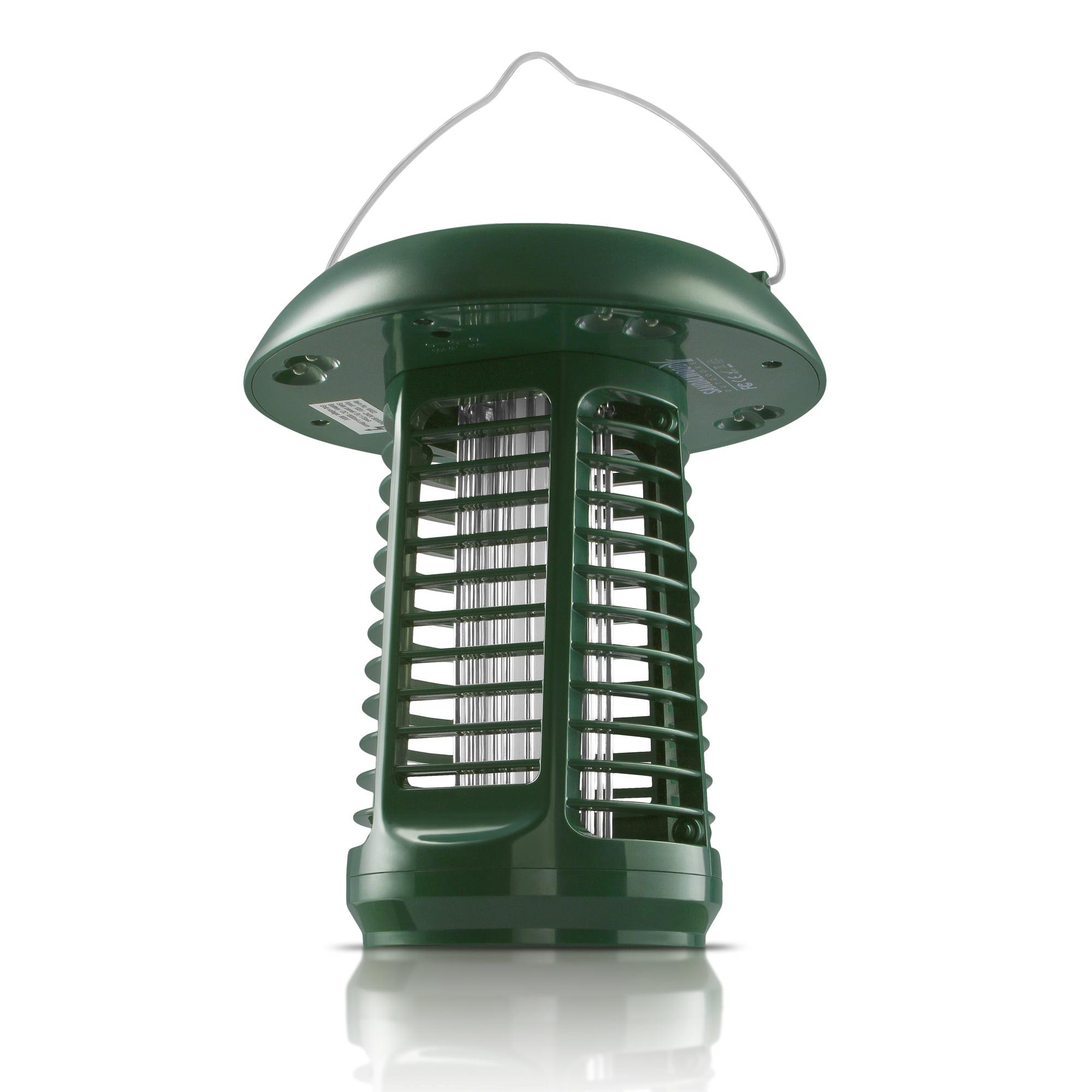 Sandalwood NK63 Solar-Powered UV Bug Zapper, Insect Killer & LED Garden Lamp – Included UL Adapter Enables Standard Charging