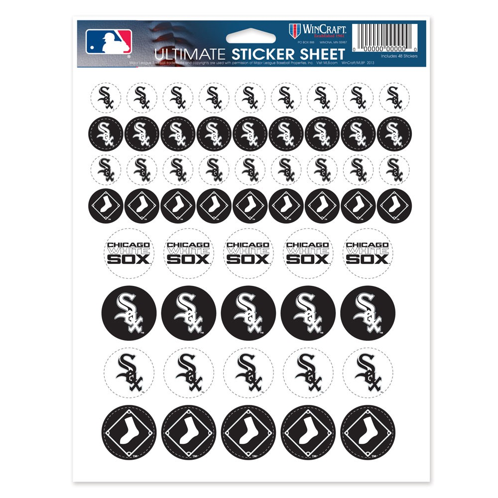 Chicago White Sox Official MLB 8.5 inch x 11 inch  Sticker Sheet by Wincraft
