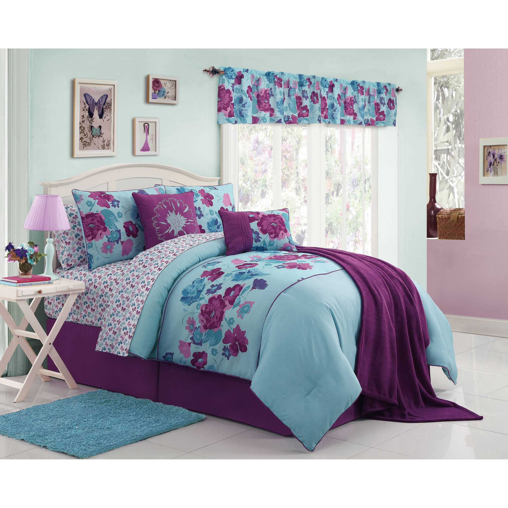 VCNY Home Lilian 11 Piece Microfiber Bedding Comforter Set