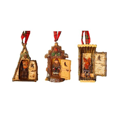 Club Pack of 12 Rustic Outhouse Moose Santa  Bear Christmas