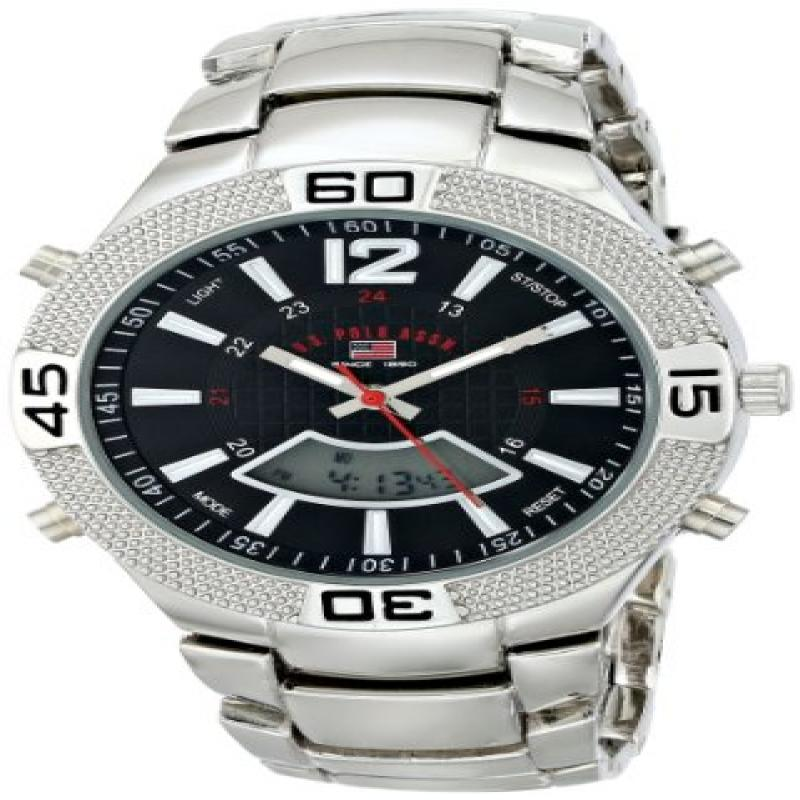 U.S. POLO ASSN Sport Men's US8230 Silver-Tone Watch