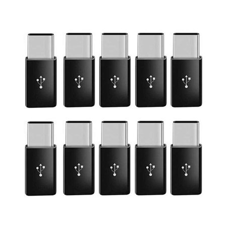 10 Pcs Micro USB to USB 3.1 Type-C Data Adapter Converter