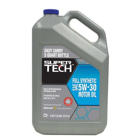 Super Tech Full Synthetic 5w30 Motor Oil 5 Qt