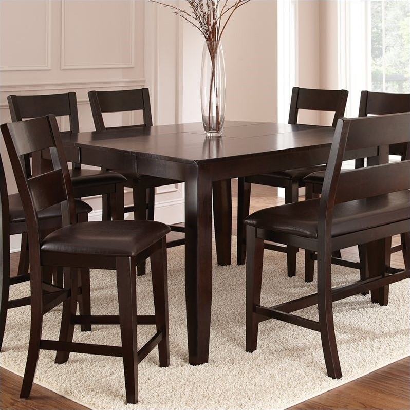 Bowery Hill Counter Height Dining Table with Butterfly Leaf in Mango -  Walmart.com