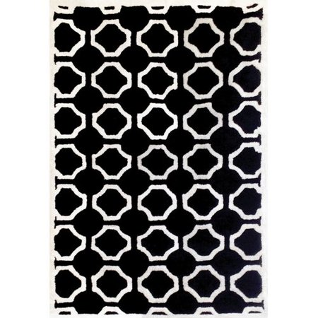 Wildon Home Lifestyle Dakin White/Black Trellis Rug