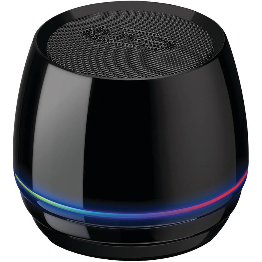 iLive ISB35B Bluetooth Speaker with Glow Ring, Black