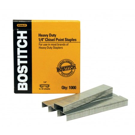 Bostitch Premium Heavy Duty Staples, 1/4