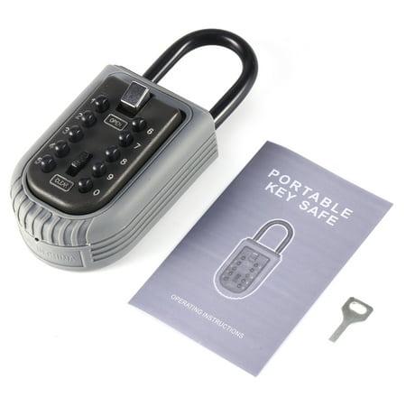 TMISHION Combination Key Safe Box Outdoor Indoor Wall Mounted Key Security Cabinet Key Holder Storage Lock Box