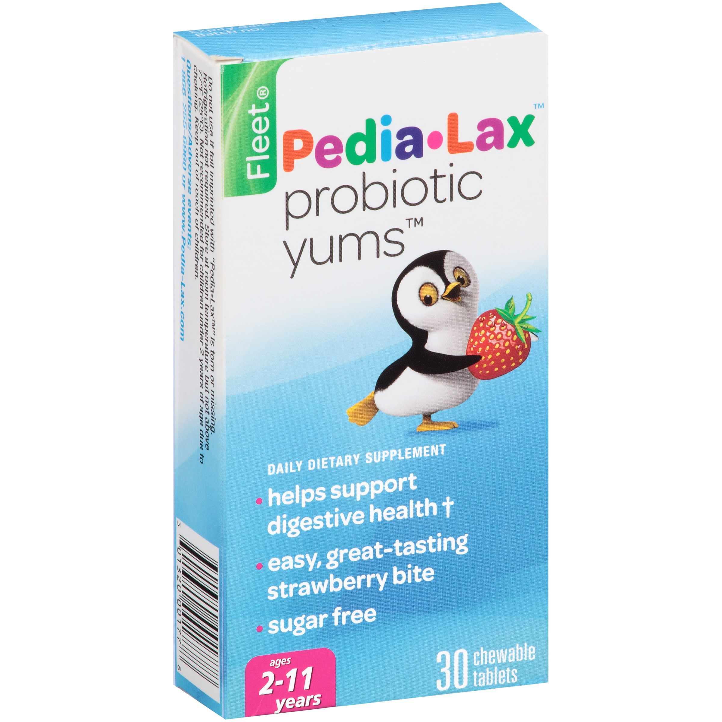 Pedia-lax Fleet Pedia-Lax Probiotic Yums, 30 Ct