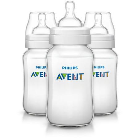 Philips Avent Anti Colic Baby Bottles Clear  11Oz  3Pk  Scf406 37