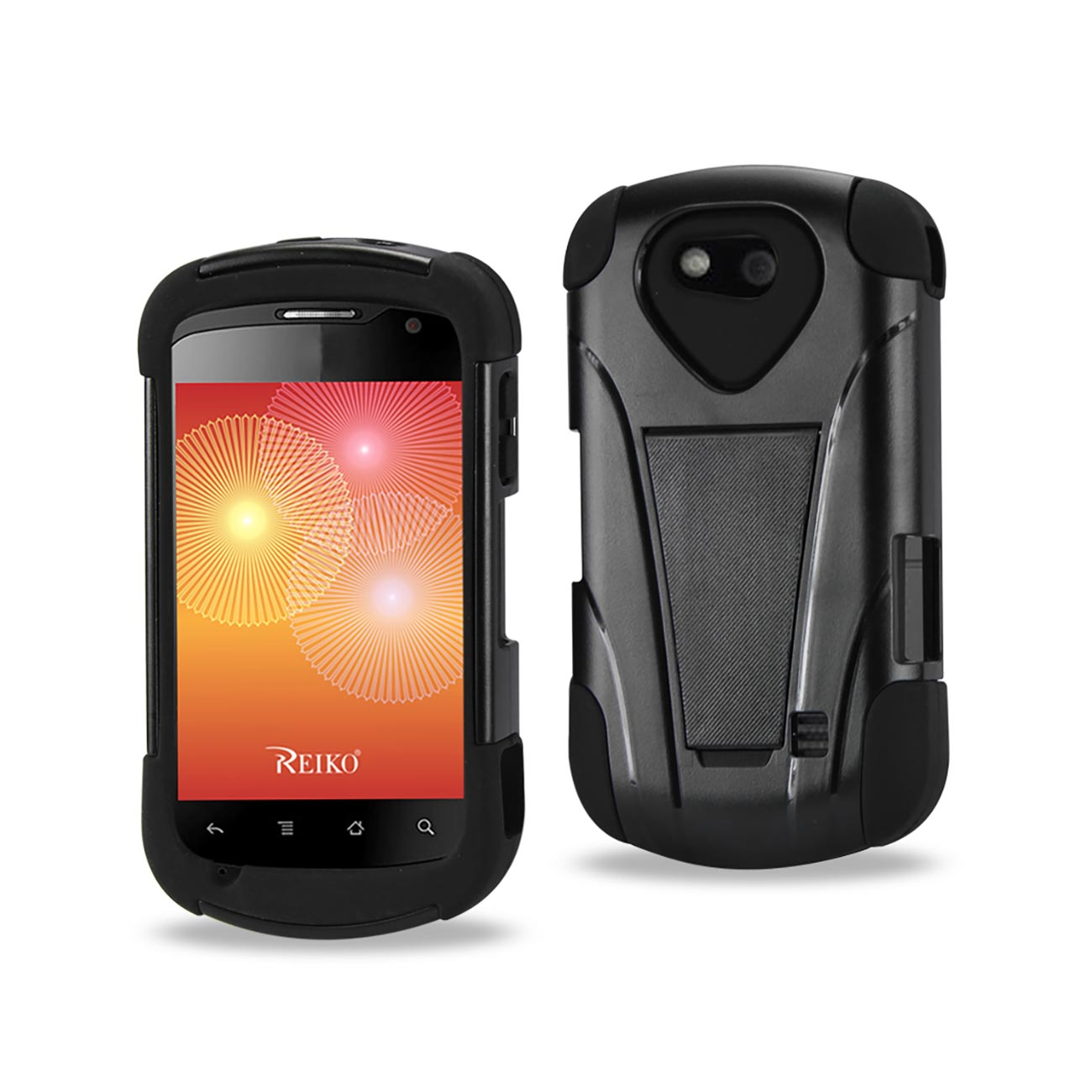 ZTE GROOVE HYBRID HEAVY DUTY COMBO CASE ARMOR BOX DEFENDER SHOCKPROOF COVER WITH KICKSTAND