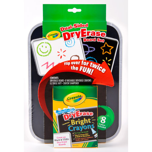Crayola Dual-Sided Dry Erase Crayons Board Set