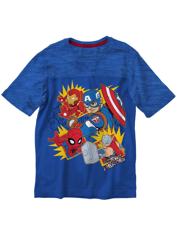 Marvel Toddler Boys Blue Avengers T-Shirt Team Heroes Thor Tee Shirt 4T