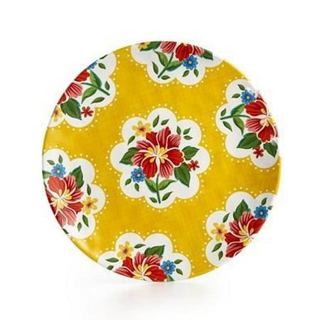 Yellow Rose Salad Plate - Certified International Frida Yellow Melamine Salad Plate